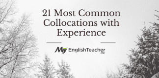 21 Most Common Collocations with Experience