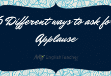 6 Different ways to ask for Applause