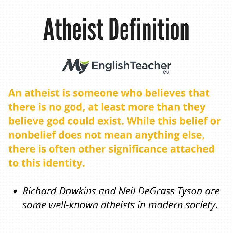 Atheist Definition What Does Atheist Mean
