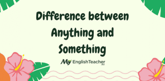 Difference between Anything and Something