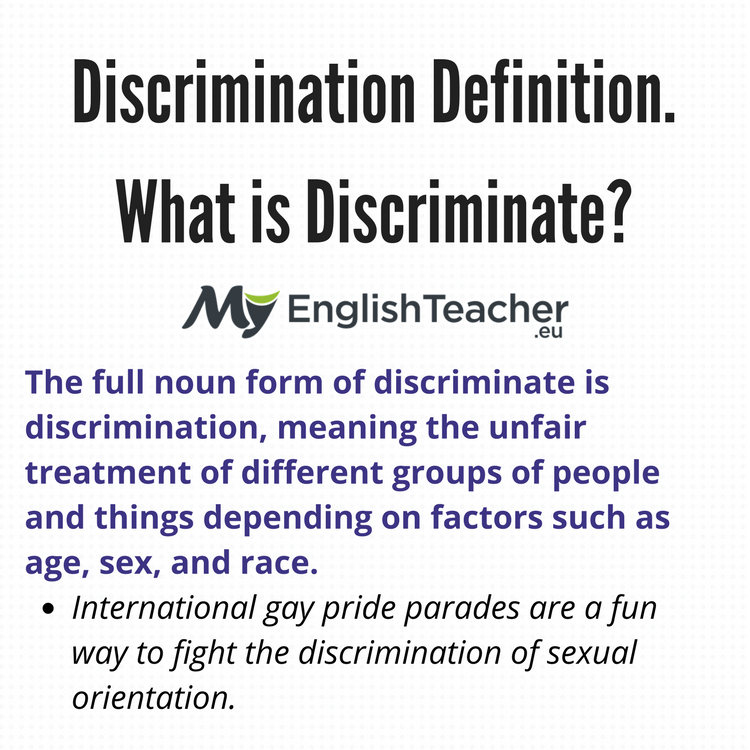 understanding the definition of discrimination Understanding legal definitions of discrimination and unlawful behaviour in the equality act understanding legal definitions of discrimination discrimination and.
