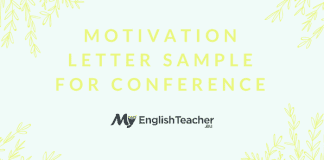 Motivation Letter Sample for Conference