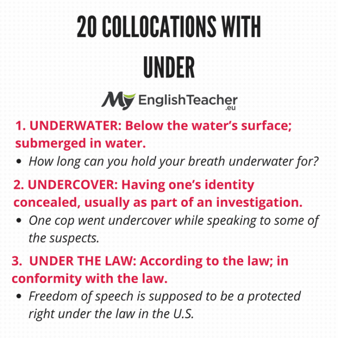 OLLOCATIONS WITH UNDER