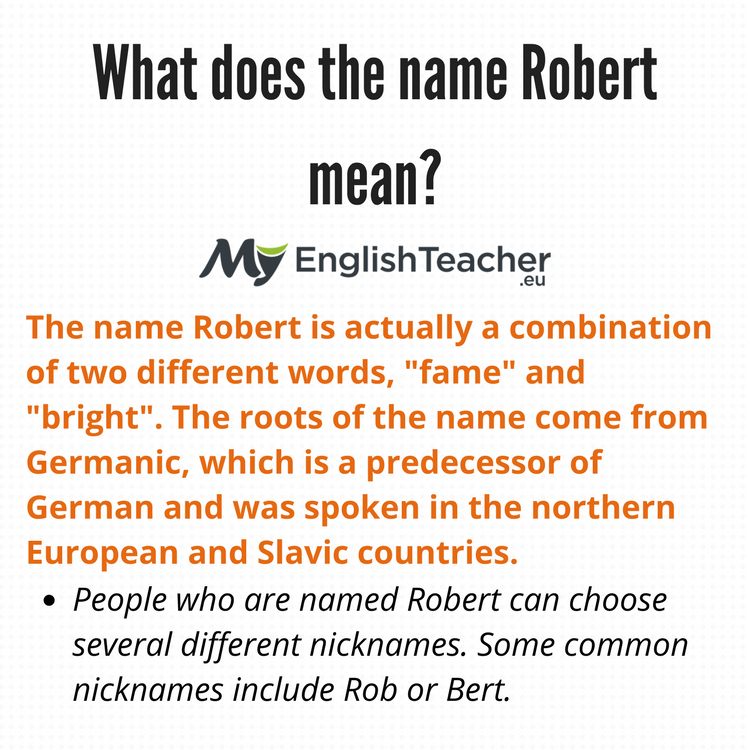 What Does The Name Robert Mean