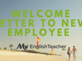 Welcome Letter to New Employee