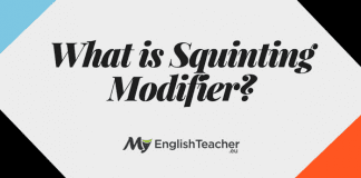 What is Squinting Modifier