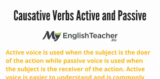 Causative Verbs Active and Passive