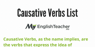 Causative Verbs List