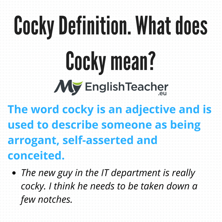 Cocky Definition