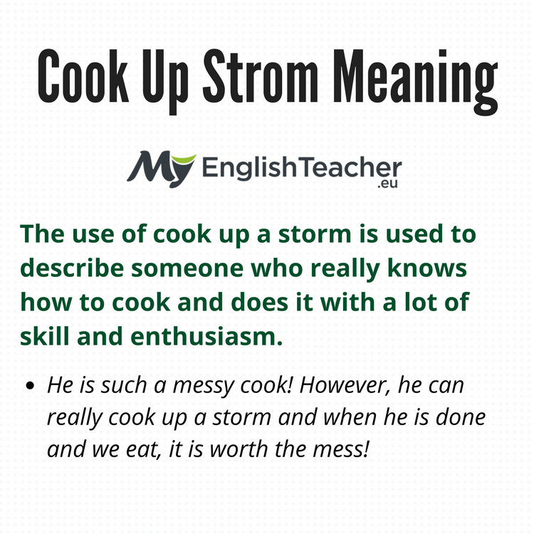 Cook Up Strom Meaning