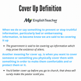 Cover Up Definition