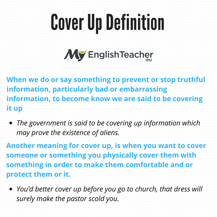 Cover Up Definition What Is