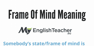 Frame Of Mind Meaning