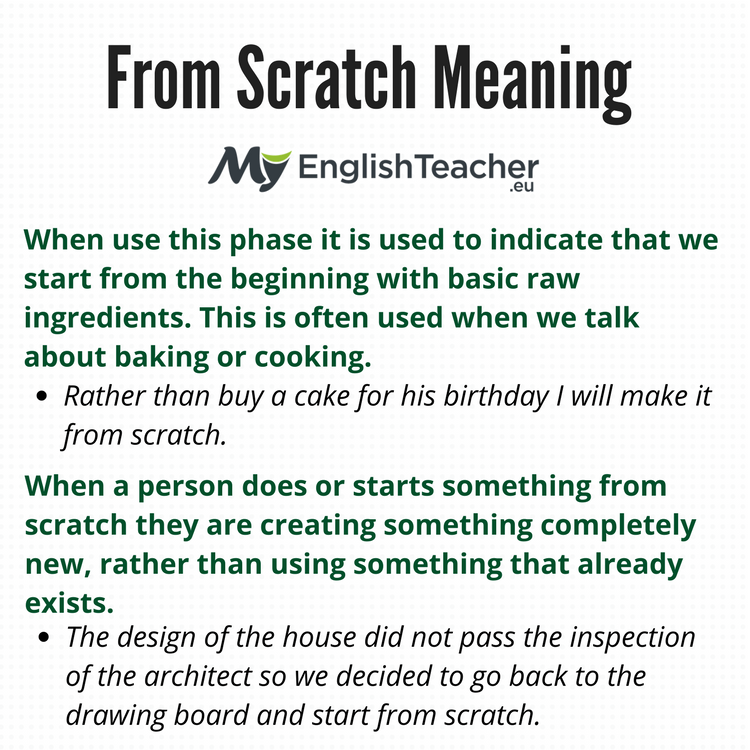 From Scratch Meaning