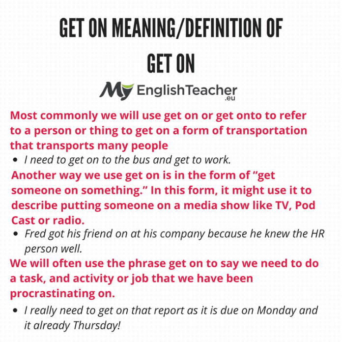 Get On Meaning