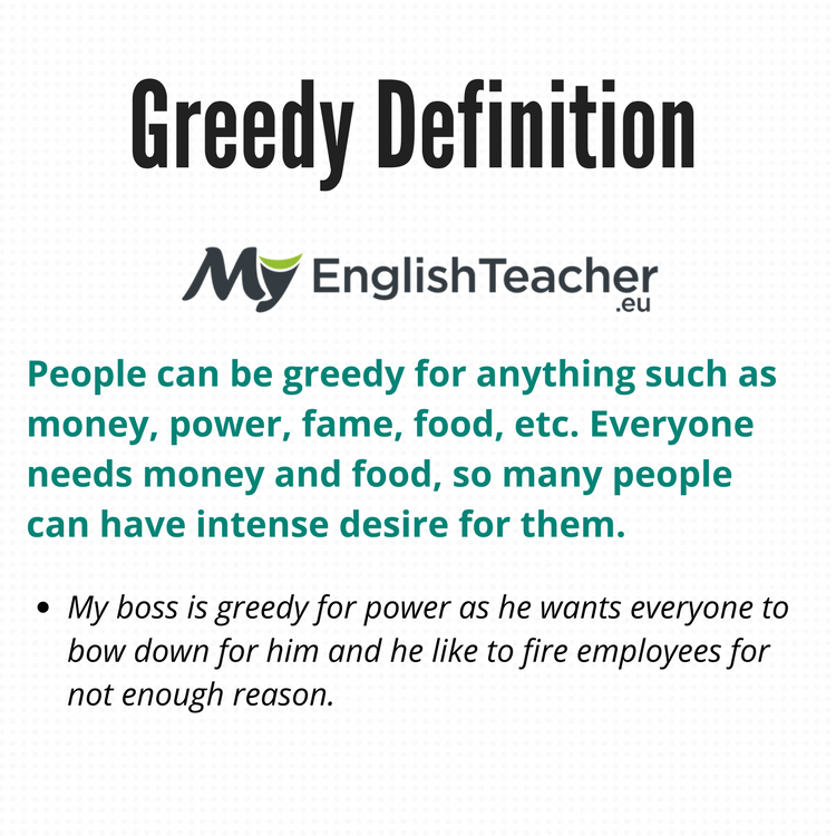 Greedy definition synonyms for greedy hungry selfish craving synonyms for greedy hungry selfish craving m4hsunfo