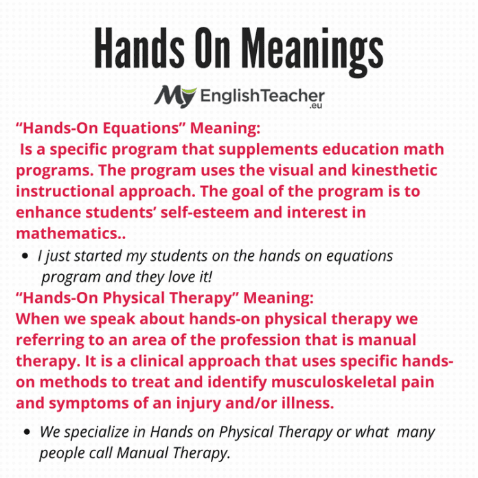 Hands On Meanings