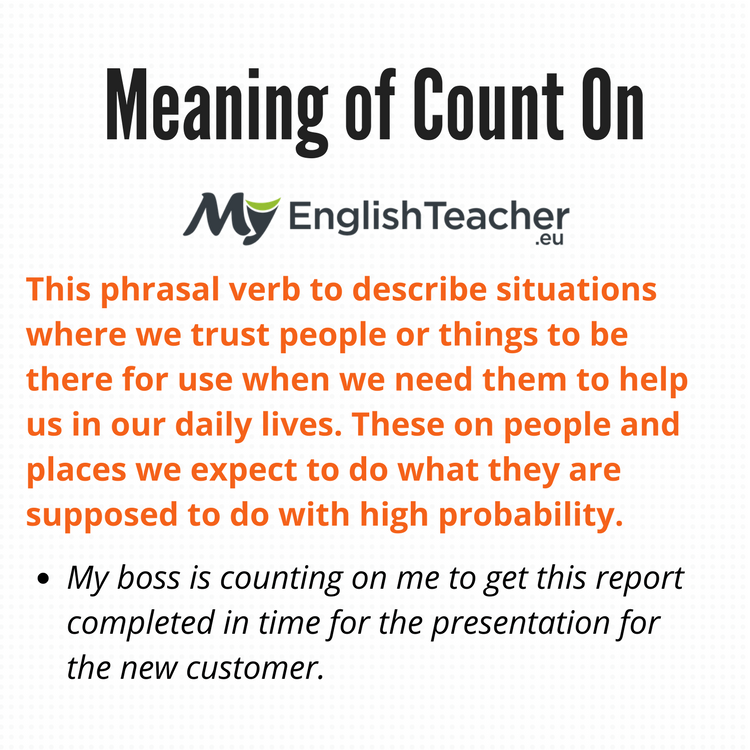 Meaning of Count On