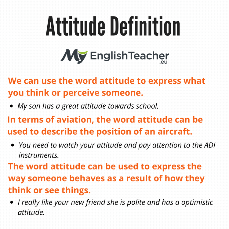 Attitude Definition What Does Attitude Mean