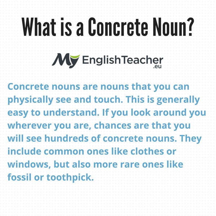 What is a Concrete Noun? Examples & Concrete Nouns List