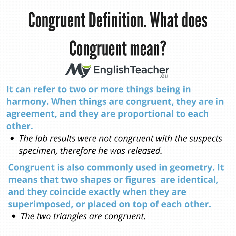Congruent Definition What Does Congruent Mean