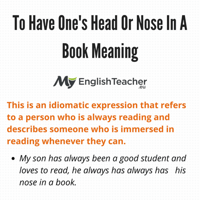 Nose In A Book Meaning