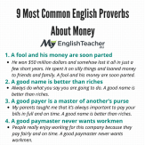 Proverbs About Money