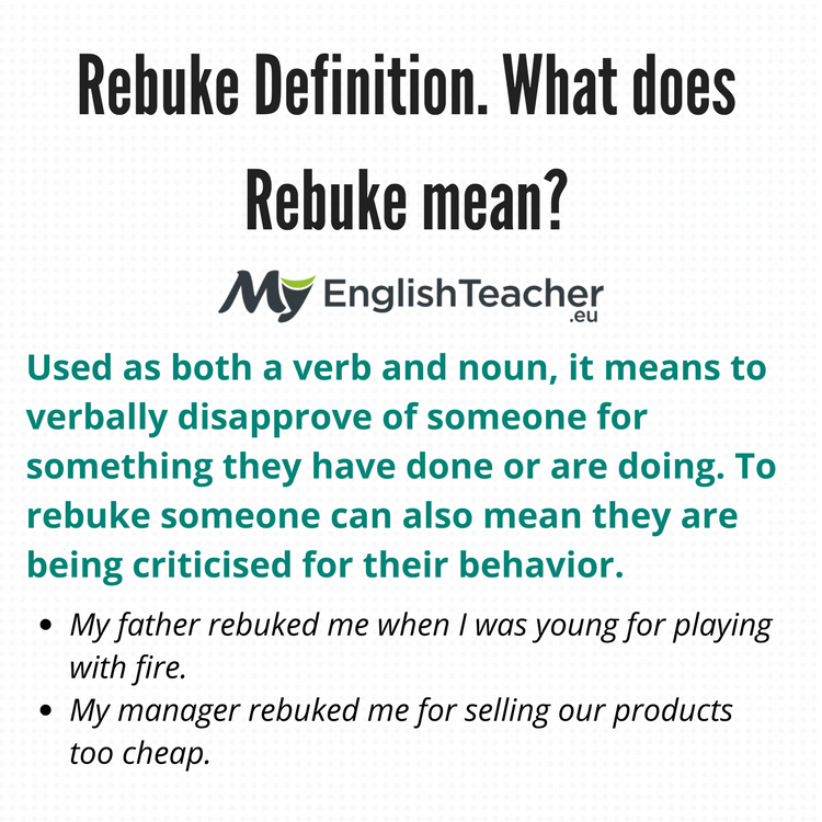 Rebuke Definition What Does Rebuke Mean