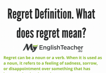 Regret Definition. What Does Regret Mean?  Greeting Email Sample