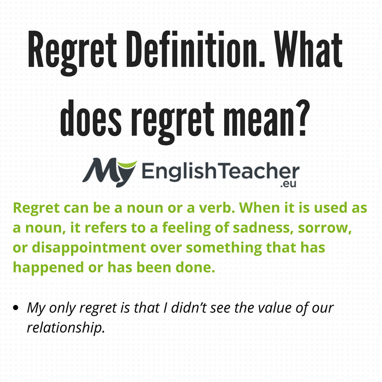 regret definition what does regret mean