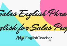 Sales English Phrases