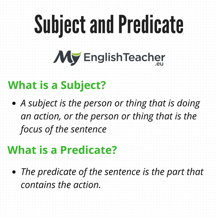 Subject and Predicate. Simple Subject and Predicate, Examples & Worksheets
