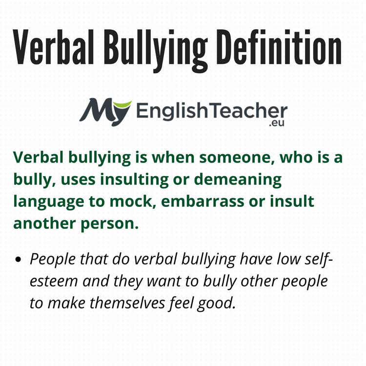 What Is The Definition Of Verbal Bullying