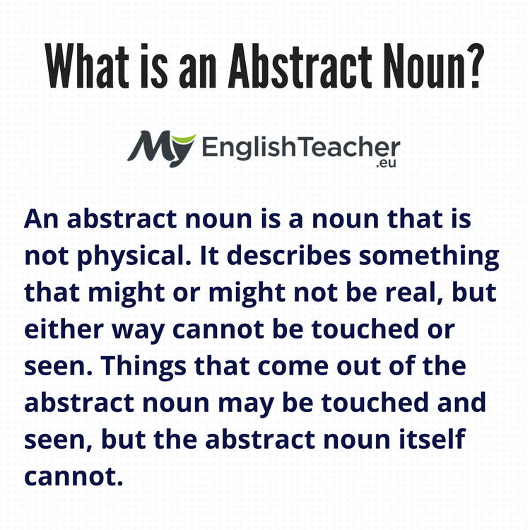 What Is An Abstract Noun Examples Abstract Noun List