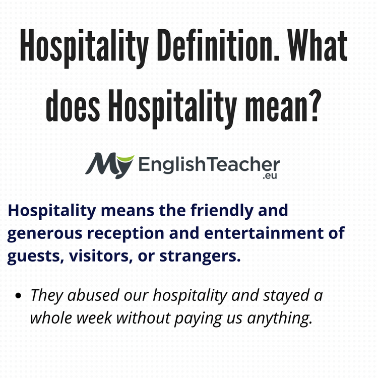 Hospitality Definition What Does Hospitality Mean