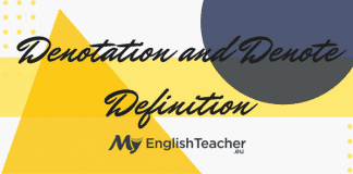 Denotation and Denote Definition