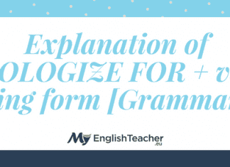 Explanation of APOLOGIZE FOR + verb -ing form [Grammar]