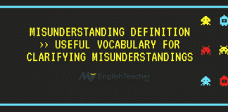 Misunderstanding Definition ›› Useful Vocabulary for Clarifying Misunderstandings