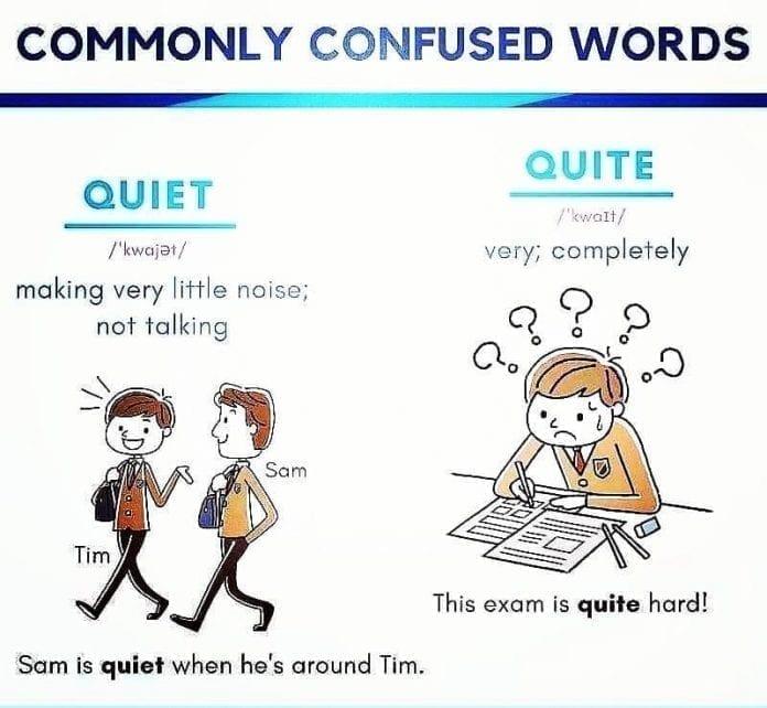 Quite vs Quiet