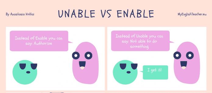 Unable vs enable