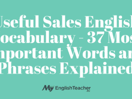 Useful Sales English Vocabulary - 37 Most Important Words and Phrases Explained