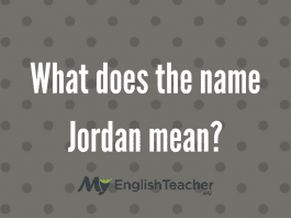 What does the name Jordan meaN