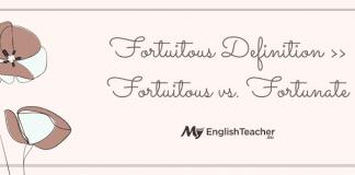 Fortuitous Definition ›› Fortuitous vs. Fortunate