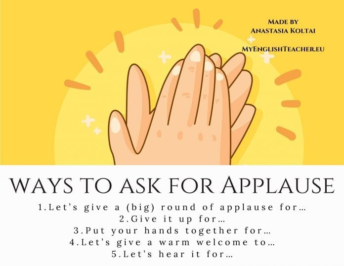 different ways to ask for applause
