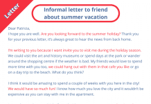 informal letter inviting a friend