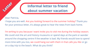 Informal-letter-to-friend-about-summer-vacation