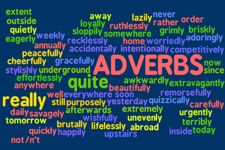 the 5 basic types of adverb list adverb examples