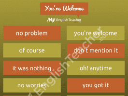 Other Ways to Say You Are Welcome