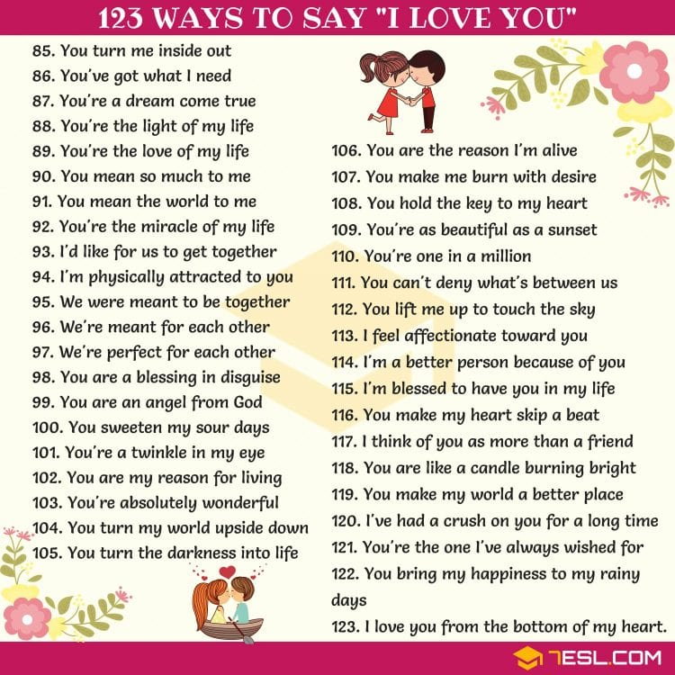 173 Ways to say I LOVE YOU ❤️😃✅ - MyEnglishTeacher eu Blog