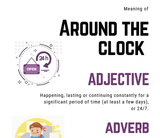 meaning of around the clock